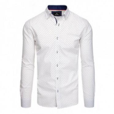 Marškiniai (Koszula męska PREMIUM z długim rękawem biała DX1819 - Drabuziai rubai internetu