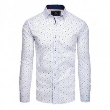 Marškiniai (Koszula męska PREMIUM z długim rękawem biała DX1825 - Drabuziai rubai internetu