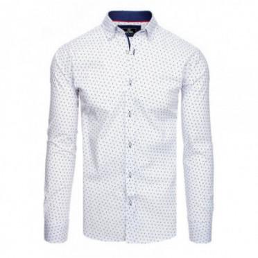 Marškiniai (Koszula męska PREMIUM z długim rękawem biała DX1828 - Drabuziai rubai internetu