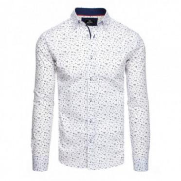 Marškiniai (Koszula męska PREMIUM z długim rękawem biała DX1830