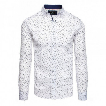 Marškiniai (Koszula męska PREMIUM z długim rękawem biała DX1830 - Drabuziai rubai internetu