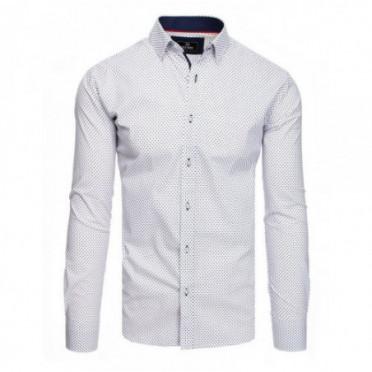 Marškiniai (Koszula męska PREMIUM z długim rękawem biała DX1803 - Drabuziai rubai internetu