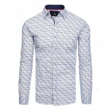 Marškiniai (Koszula męska PREMIUM z długim rękawem biała DX1815 - Drabuziai rubai internetu