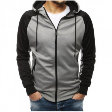 Džemperis (Bluza męska rozpinana jasnoszara BX4368