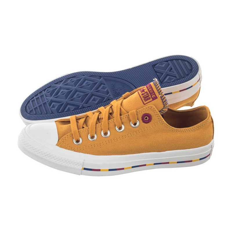 Converse CT All Star OX Sunflower Gold/Rose Maroon 566719C (CO407-a) bateliai