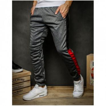 Kelnės (Spodnie męskie dresowe ciemnoszare UX2263