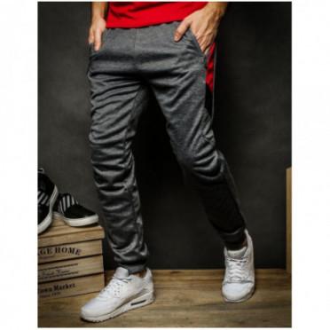 Kelnės (Spodnie męskie dresowe ciemnoszare UX2281