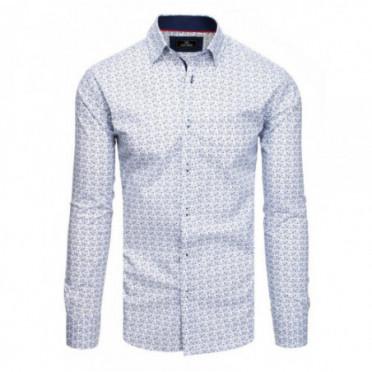 Marškiniai (Koszula męska PREMIUM z długim rękawem biała DX1809