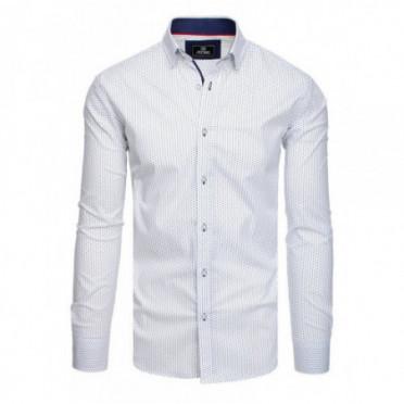 Marškiniai (Koszula męska PREMIUM z długim rękawem biała DX1827