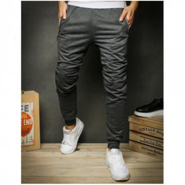 Kelnės (Spodnie męskie dresowe jasnoszare UX2369