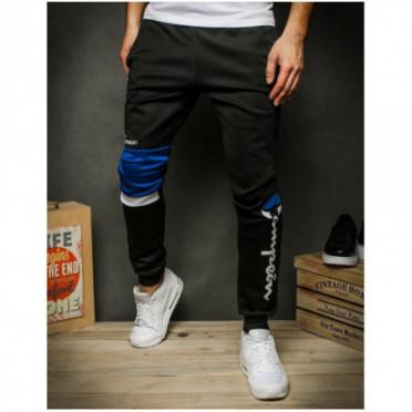 Kelnės (Spodnie męskie dresowe czarne UX2422