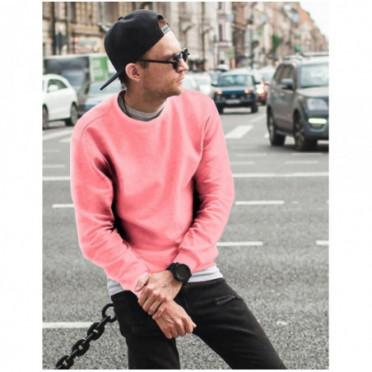 Džemperis (Bluza męska gładka różowa BX4508