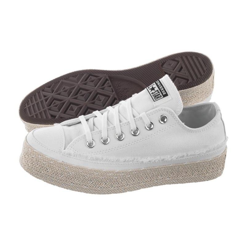 Converse CT All Star Espadrille OX White/Black/Natural 567686C (CO431-a) bateliai