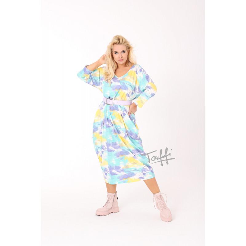 Viskozinė TAFFI suknelė leisure blue 13