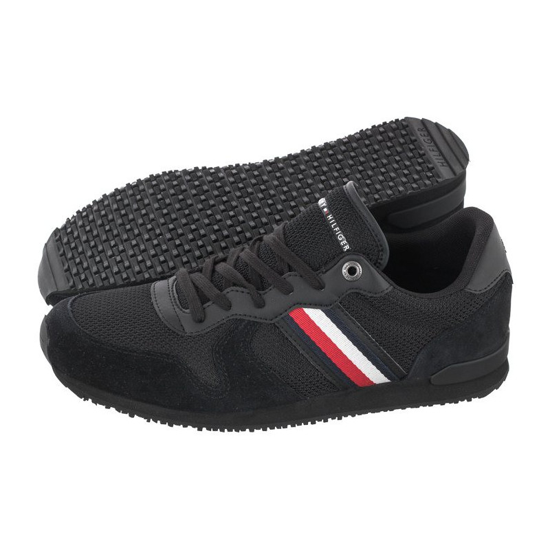 Tommy Hilfiger Iconic Material Mix Runner FM0FM03470-BDS Black (TH236-a) bateliai