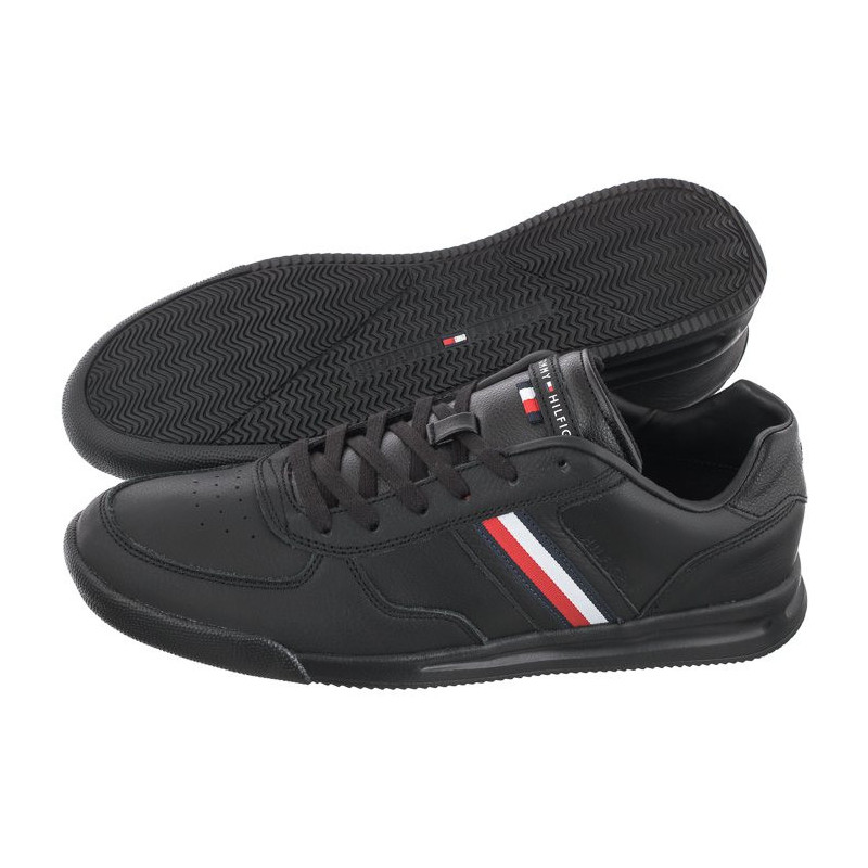 Tommy Hilfiger Lightweight Leather Sneaker Flag FM0FM03471-BDS Black (TH249-a) bateliai